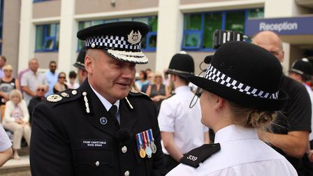 Mr Dean congratulated the new recruits and welcomed them to the constabulary.