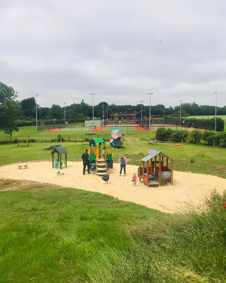 The new play equipment in Greenwood Park, which has once again been awarded a Green Flag Award. Pict