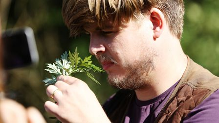 Richard Osmond from The Verulam Arms on a foraging walk. Picture: DANNY LOO