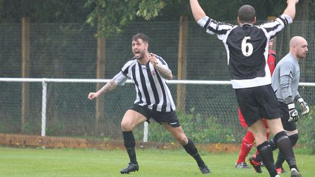Harpenden Town's new manager Martin Standen seen in action for Colney Heath. Picture: DANNY LOO
