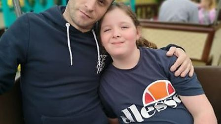 Dave with his fiance's daughter Caitlin