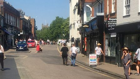 St Albans in the sunshine - the district is bracing itself for a heatwave this week.