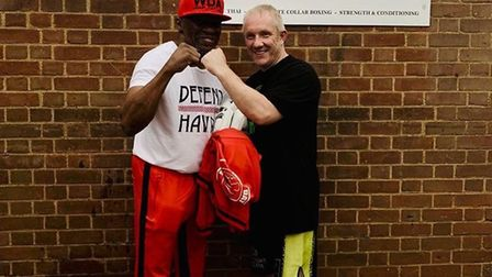 Floyd Mayweather Senior with Brian Boyle, Combat Gym St Albans owner. Picture: Submitted by Combat G