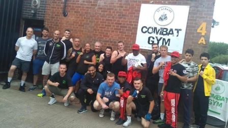 Floyd Mayweather Senior and his entourage visited Combat Gym St Albans on London Road. Picture: Subm