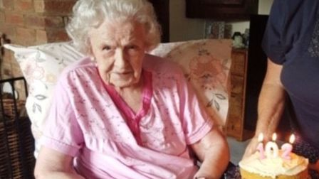 Sylvia Garner has turned 102. Picture: CONTRIBUTED