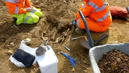The excavations at Farriers Way in Warboys. Pictures: OA East