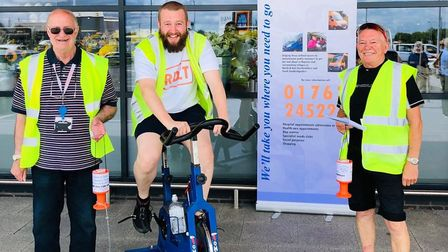 M&S staff saddled up to raise money for Royston & District Community Transport. Picture: RDCT