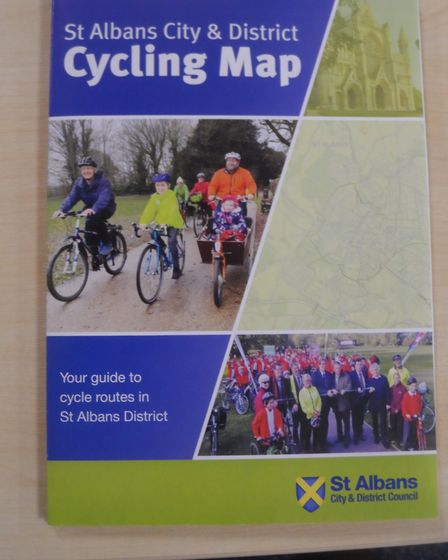 The new cycling map of St Albans district. Picture: St Albans District Council