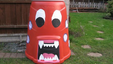 Why not get a compost bin the kids can decorate? Picture: Garden Organic/PA