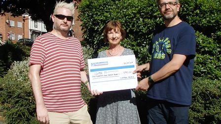 The Common People indie night DJs Colin Toms (left) and Ed the Saint presented a cheque for £570 to