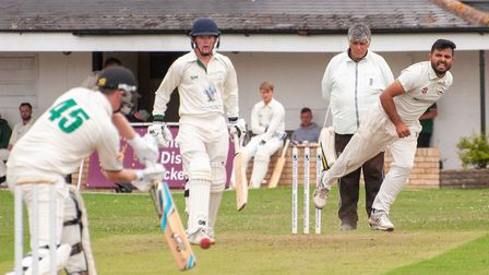 Jahanzaib Khan impressed as Huntingdon & District claimed a fine win against Stamford Town. Picture:
