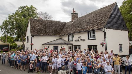 The grand reopening of The Three Tuns in Guilden Morden. Picture: Greg Butterworth
