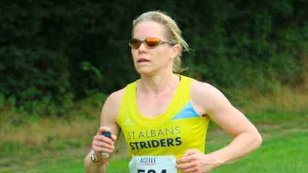 St Albans Striders' Anna Ward at the St Albans 10K. Picture: TONY BARR