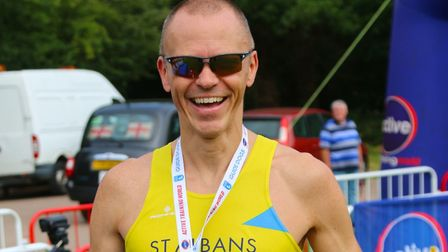 St Albans Striders' Sebastian Rowe at the St Albans 10K. Picture: TONY BARR