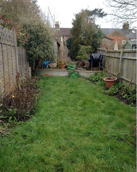 Before: How the garden looked in 2015, when Frances and Trevor moved in. Picture: Trevor Barton