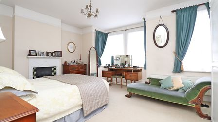 """The 16'6"""" x 14'7"""" master bedroom has two sash windows, one of which is a feature bay. Picture: Paul"""