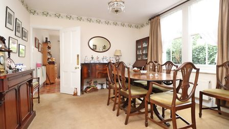The spacious dining room connects the hall to the kitchen. Picture: Paul Barker Estate Agents