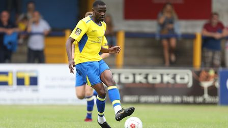 Soloman Nwaboukei enjoyed a good debut for St Albans City against Chippenham Town. Picture: TGS PHOT