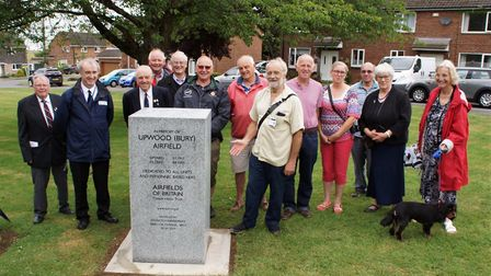 A new memorial is unveiled in Upwood. Picture: AIRFIELDS OF BRITAIN CONSERVATION TRUST