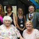 The fundraising barbecue at Richard Cox House in Royston, included special guest Royston mayor Rober