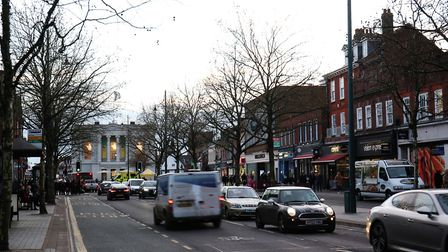 A baby in a pram was shoved in a racially aggravated assault in St Peter's Street, St Albans. Pictur