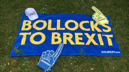 Get your anti-Brexit message across with The New European merchandise at the start of the March for