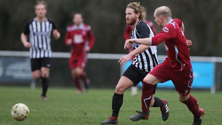 Spencer Clarke-Mardel got the first goal in Colney Heath's win at Harefield United. Picture: KARYN H
