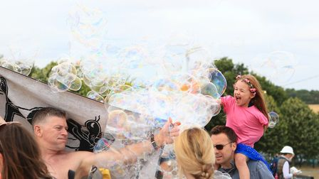 Fun with Bubbles at Meraki Festival 2018. Picture: KEVIN RICHARDS