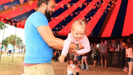 Dad is the merry-go-round at the bar Meraki Festival 2018. Picture: KEVIN RICHARDS