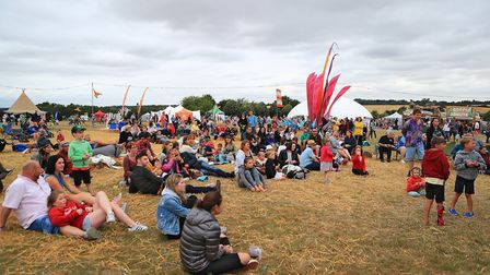 Crowd enjoy the Mr Peebles stage at Meraki Festival 2018. Picture: KEVIN RICHARDS