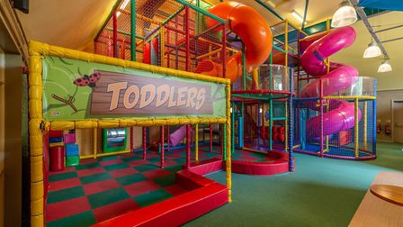 Children can let off some steam in the indoor play area. Photo: The Highwayman/Matt Sweeting Photogr