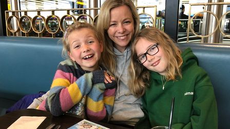 Stacey Turner with her daughters Emily and Molly.