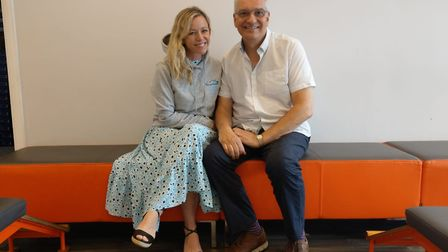 Peter Varnavas from Precious Soles in Potters Bar with Stacey Turner.