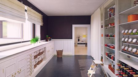 A modern design for a pantry.