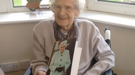 Kathleen Beeney celebrated her 100th birthday in Huntingdon. Picture: CONTRIBUTED