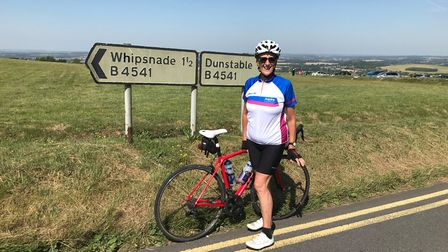 St Albans' Jan Morse completed the Prudential RideLondon on August 4. Picture: Submitted by Jan Mors