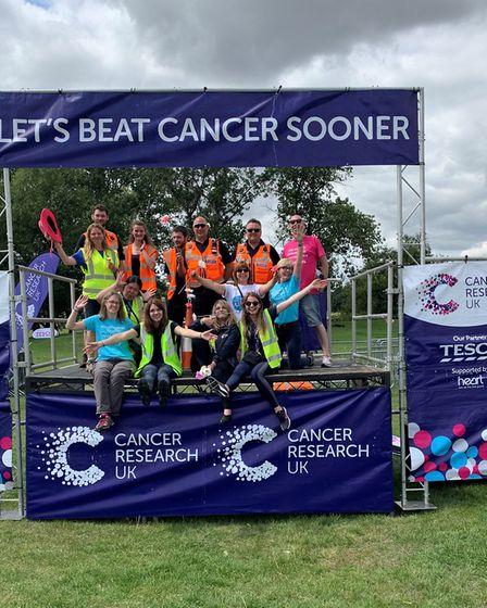 The team that made the St Albans Race for Life 2019 happen. Picture: Annie Ashwell