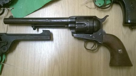 One of the fire arms handed in