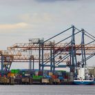 Europe. Northern Ireland. Belfast. Industrial Harbour. (Photo by: marka/Universal Images Group via G