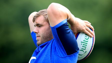 England's Jack Singleton during a training session at Pennyhill Park, Surrey. Picture: ADAM DAVY/PA