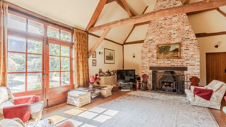 This double-height ceiling is one of the property's standout features. Picture: Bryan Bishop and Par