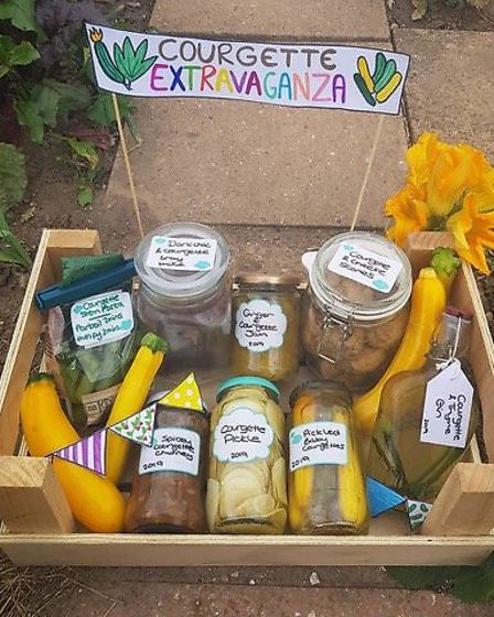 The courgette box display by Becky McMichael demonstrates all the things you can do with a glut of c