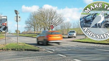 The Crow has been called for change as part of its Make the A505 Safer campaign. Picture: Danny Loo