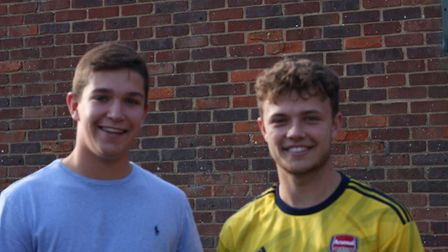 A-level results 2019: Freman College's James Savage and Harrison Knowles. Picture: Lisa Jones