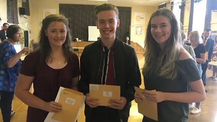 Priscilla Graham, Tom Harding and Beth Gibson Abbey College