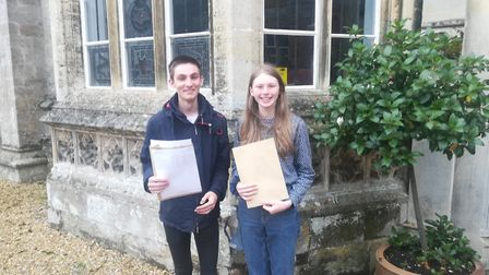 Hinchingbrooke - Isabel secured a place at Oxford and Will got 2 A*'s and two A's