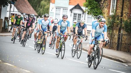 The Men in Lycra completed the flagship London-Surrey 100-mile Prudential Ride London challenge.