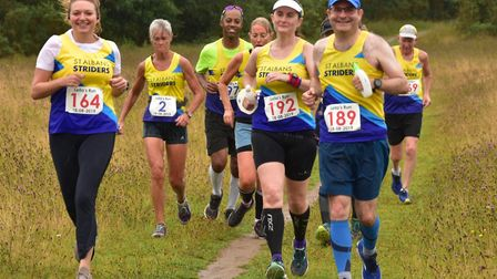 St Albans Striders had a good turnout at Leila's Run in Wheathampstead. Picture: RICHARD UNDERWOOD