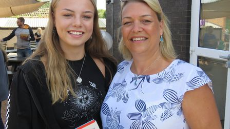 Abigail Wadeson with her mum. Picture: BVC