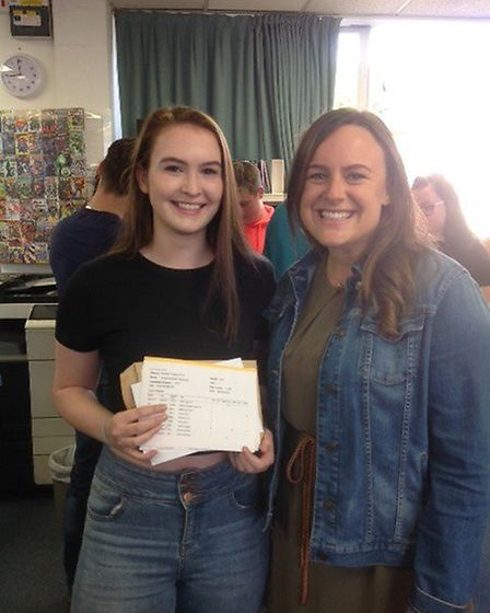 Longsands - Incredible results from Emilia Hollywood (pictured with Stephanie Hills, Head of Year 1